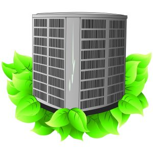 AC-unit-on-leaves